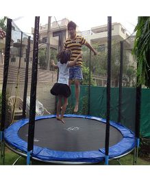 SkyJumper Trampoline With Enclosure Black Blue -144 inches
