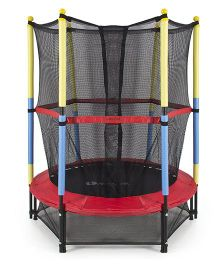 SkyJumper Kids Trampoline With Safety Enclosure Multicolour - 54 Inches