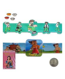 Litte India Embossed Chhota Bheem Design Kids Flexible Rakhi