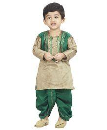 Bunchi Ethnic Kurta Dhoti Set - Green