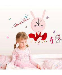 EZ Life DIY Bunny Rabbit Clock Set - Pink