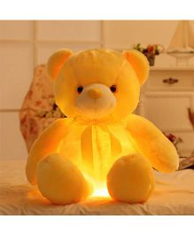 EZ Life 7 Color LED Light Teddy Pillow Plush Soft Toy - Yellow