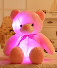 EZ Life 7 Color LED Light Teddy Pillow Plush Soft Toy - Pink