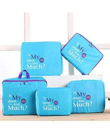 EZ Life 5 Piece Travel Bag-in-bag Organizers - Blue