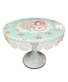 EZ Life Cake & Dessert Stand With Metal Filigree - Blue