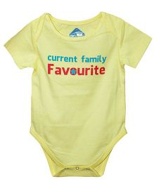 Blue Bus Store Current Family Print Onesie - Yellow