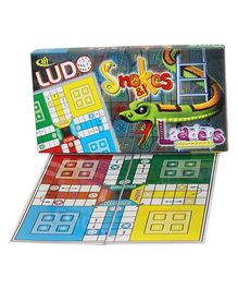 Shree Creations Ludo Snake And Ladder Deluxe Board Game - Multicolor