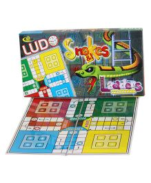 Shree Creations Ludo Snake And Ladder Junior Board Game - Multicolor