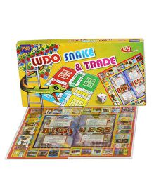 Shree Creations Ludo Snake And Trade Junior Board Game - Multicolor