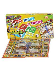 Shree Creations Ludo Snake And Trade Board Game - Multicolor