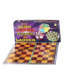Shree Creations Techno Ludo Snake And Chess Board Game - Multicolor