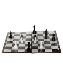Kids Mandi Techno Men In Black And White Chess Set Board Game - Multicolor