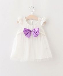 Superfie Dress For Girls - White