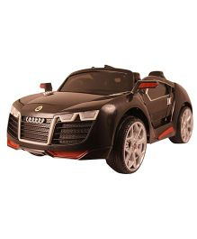 Happykids Battery Operated Fashionable Car Ride On Fashionable - Black