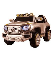 Happykids Battery Operated Ride On Jeep - Glossy Silver