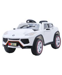Happykids Battery Operated Ride-On Power SUV - White