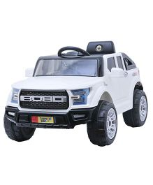 Happykids Battery Operated Powerful Jeep Ride On  - White