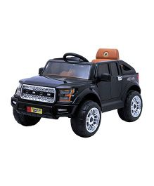 Happykids Battery Operated Powerful Jeep Ride On - Black