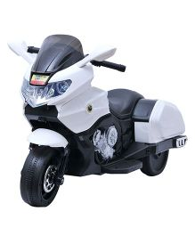 Happykids 3 Wheel Battery Operated Motorcycle - White