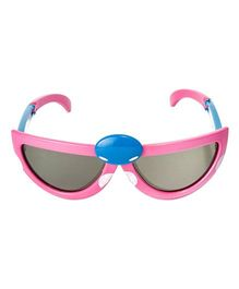 VESPL Polarized Foldable And Stretchable Oval Sunglasses - Pink