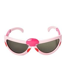 VESPL Polarized Foldable And Stretchable Oval Sunglasses - Light Pink