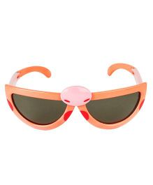VESPL Polarized Foldable And Stretchable Oval Sunglasses - Orange