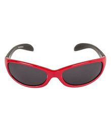 VESPL UV Protected Rectangular Sunglasses - Red