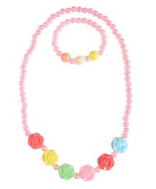 Miss Diva Rose & Beads Jewelry Set - Light Pink