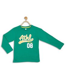 612 League Full Sleeves T-Shirt Athl Patch - Dark Green