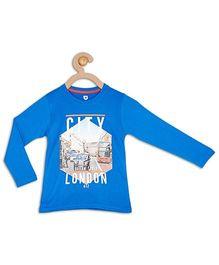 612 League Full Sleeves T-Shirt City London Print - Blue