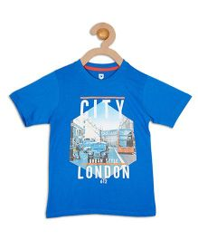 612 League Half Sleeves T-Shirt City London Print - Blue