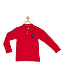 612 League Full Sleeves T-Shirt Embroidery - Red