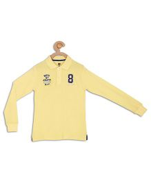612 League Full Sleeves Polo T-Shirt - Yellow
