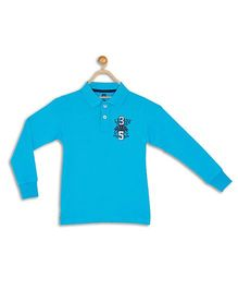 612 League Full Sleeves T-Shirt Numeric 35 Embroidery - Cyan