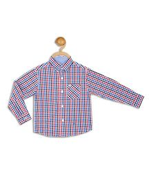 612 League Full Sleeves Check Shirt - Red Blue White