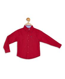 612 League Full Sleeves Solid Shirt - Red