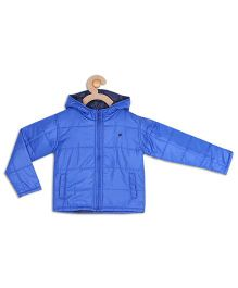 612 League Full Sleeves Hooded Jacket - Blue
