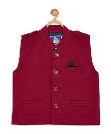 612 League Party Wear Waistcoat - Red