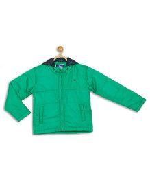 612 League Full Sleeves Hooded Jacket - Green