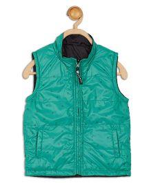 612 League Sleeveless Reversible Jacket - Green Black