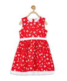 612 League Sleeveless Dress Multi Print - Red
