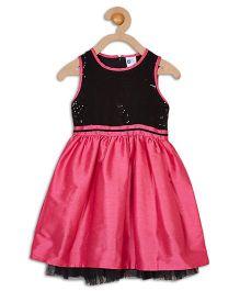 612 League Sleeveless Party Dress - Mauve Black