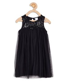 612 League Sleeveless Party Wear Dress - Black