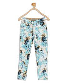 612 League Full Length Pants Floral Print - Blue