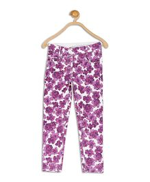 612 League Full Length Twill Pants Floral Print - Purple