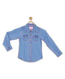 612 League Denim Shirt - Blue