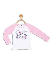 612 League Raglan Sleeves Top 95 Design - White Pink