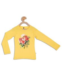 612 League Full Sleeves Top Floral Print - Yellow