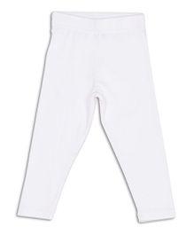 612 League Basic Solid Color Leggings - White
