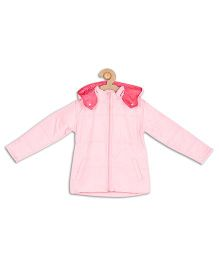 612 League Full Sleeves Hooded Front Open Jacket - Pink